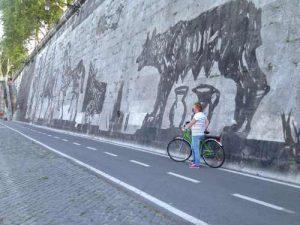 Rome per fiets langs de Tiber